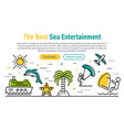 sea entertainment - rectangular site header vector image vector image