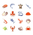 Sea Food Icon Flat vector image
