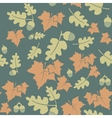 Seamless pattern with colorful autumn leaves and vector image