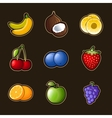 Set fruit icons vector | Price: 3 Credits (USD $3)