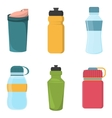 Set of blank bicycle plastic bottles for water vector image vector image