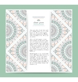set romantic circular greeting gentlecards and vector image