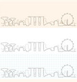 singapore hand drawn skyline vector image