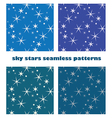 sky star seamless background vector image vector image