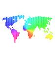 spectrum hexagon world map vector image