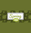 spring poster green leaves background seamless vector image vector image