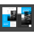 Startup presentation layout or business flyer vector image