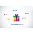 stylized colorful box from triangles for Christmas vector image vector image