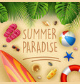 summer holiday paradise vector image vector image