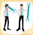 technician Business man vector image