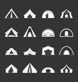 tent forms icons set grey vector image vector image