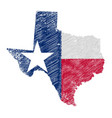 texas map grunge and flag vector image vector image