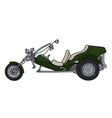 the green motor tricycle vector image vector image