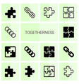 togetherness icons vector image vector image
