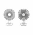 two table fans vector image vector image
