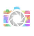 watercolor photography camera vector image vector image