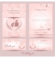 Wedding set the template pink vector image