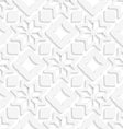 White snowflakes and white squares seamless vector image vector image