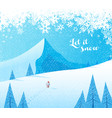 winter mountain landscape scenery with santa vector image