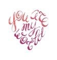 Words of love lettering confession written in vector image vector image