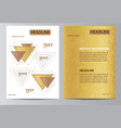 yellow brochure template vector image