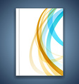 Colorful line stripe layout brochure cover modern vector image