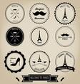 Paris France Vintage Label vector image