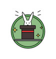rabbit inside magician hat funny magic trick vector image