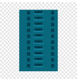 abandoned city building icon flat style vector image vector image