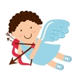angel cupid little icon vector image vector image