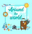 around the world poster vector image