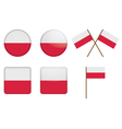 badges with flag of Poland vector image