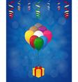 balloons and gift box vector image vector image