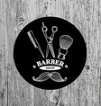 Barber shop label icon vector image vector image