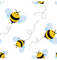 bee seamless pattern honey vector image vector image