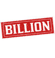 billion sign or stamp vector image