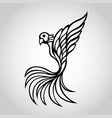 bird wing logo icon vector image