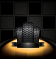black rubber tire vector image
