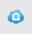 Blue cloud measurement icon vector image