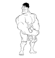Bodybuilder Cartoon vector image vector image