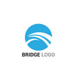 bridge logo and symbol template building vector image