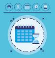 calendar planner design vector image