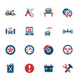 car service icon set vector image vector image