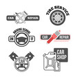 car service logo for business vector image vector image