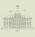 carciotti palace in trieste italy vector image vector image