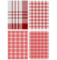 checkered tablecloths vector image vector image