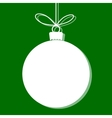 Christmas bauble white tag vector image