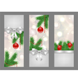 christmas silver flyers vector image