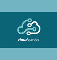 cloud company logo symbol android vector image vector image