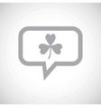 Clover grey message icon vector image vector image